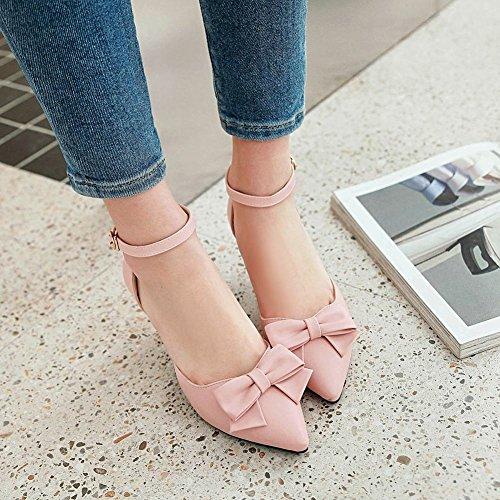 Mee Shoes Damen Süß High Heels mit Schleifen Pumps Pink