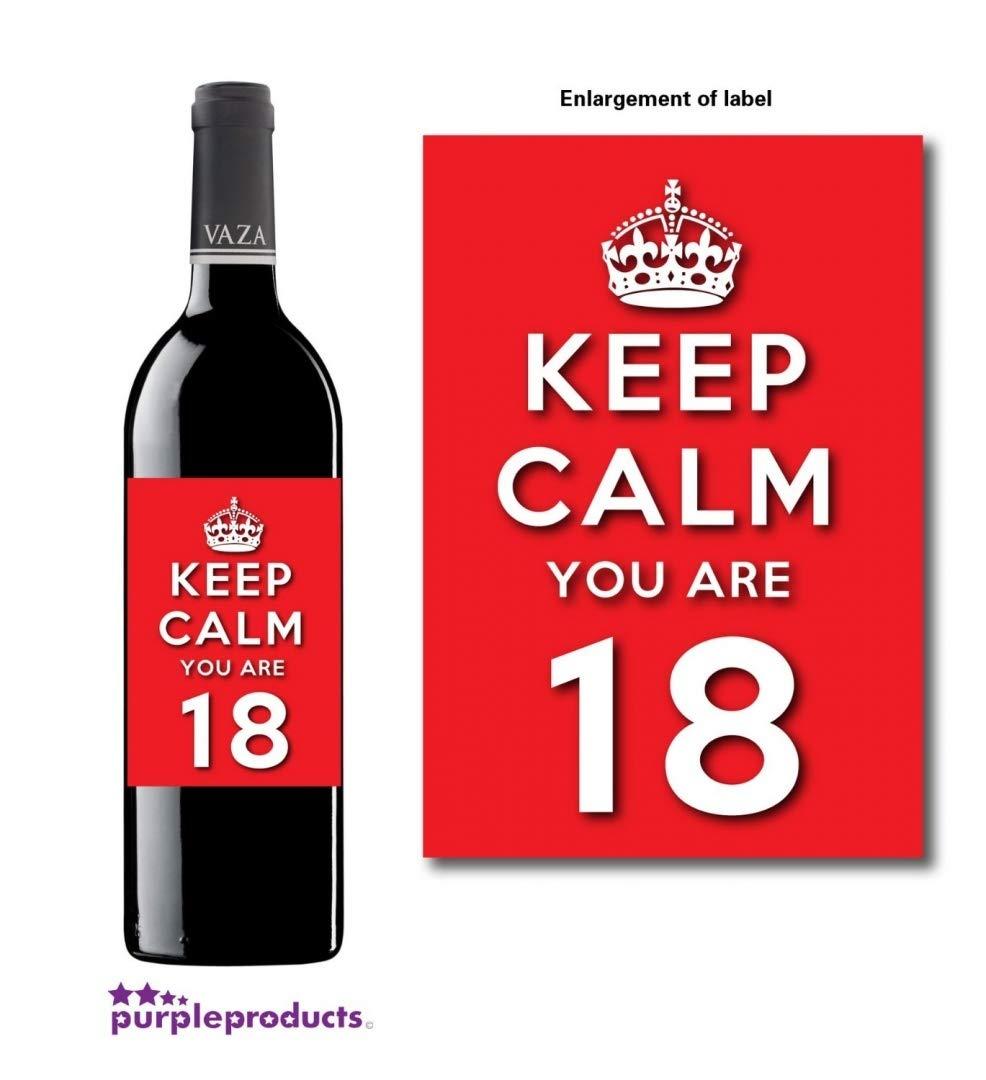 Keep Calm rojo eres feliz 18 cumpleaños celebración de la ...
