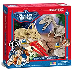 Geoworld Paleo Adventures Velociraptor vs Protoceratops Excavation Kit