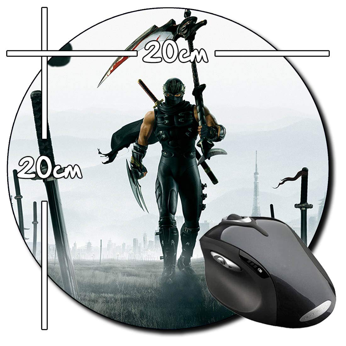 Ninja Gaiden 2 Alfombrilla Redonda Round Mousepad PC: Amazon ...