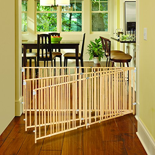 ''Extra-Wide Swing Gate'' by North States: Great for extra-wide openings, with no threshold and one-hand operation. Hardware mount. Fits openings 60'' to 103'' wide (27'' tall, Natural wood) by North States (Image #6)'