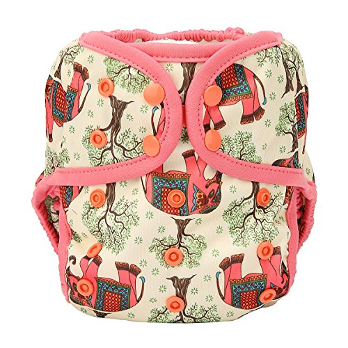 Cloth Diaper Double Gusset Elephant product image