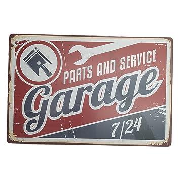 Cartel metalico garaje vintage