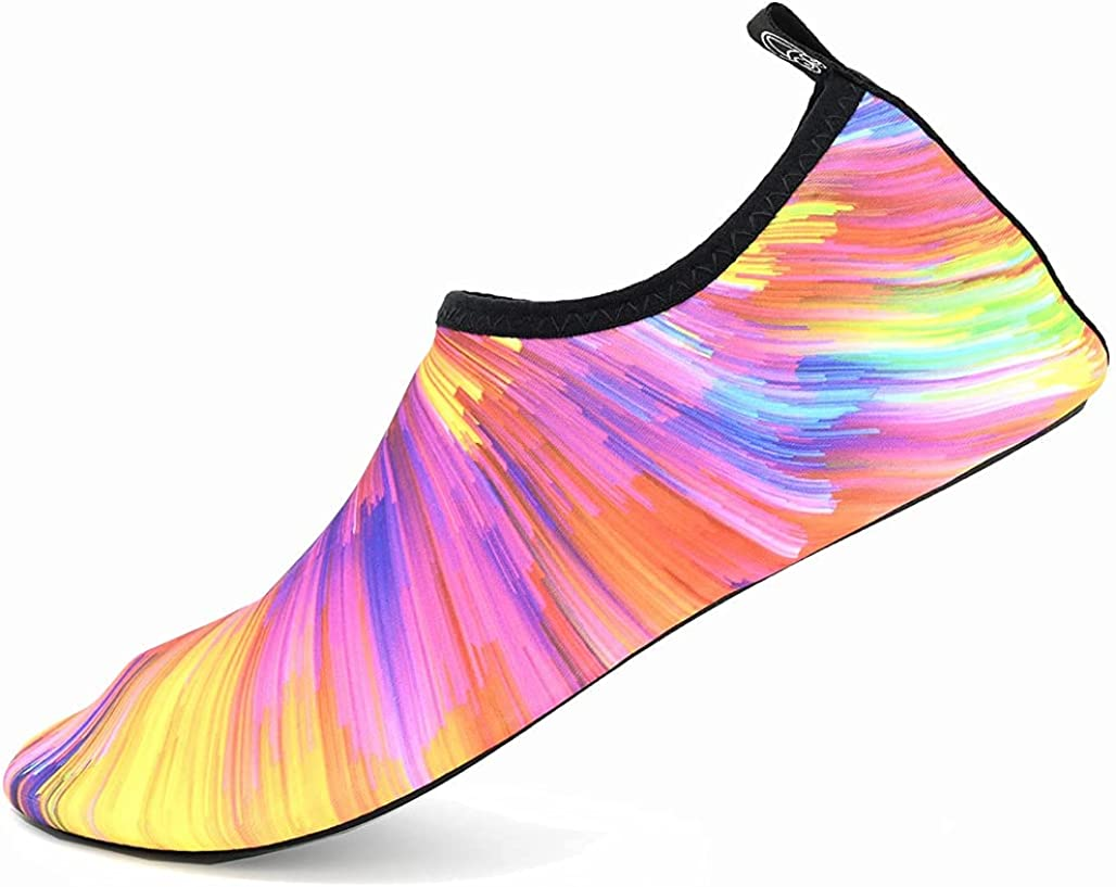 Water Shoes for Women Men, MassTUO Barefoot Quick Dry Beach Garden Swim Sport Shoes, Aqua Yoga Socks Slip-on for Boating, Kayaking, Pool, River, Water Park, Travel at Summer Holiday