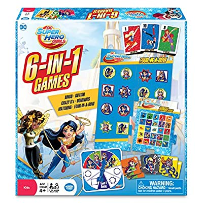 WONDER FORGE DC Super Hero Girls 6-in-1 Game: Toys & Games