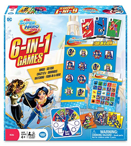 WONDER FORGE DC Super Hero Girls 6-in-1 Game (The Best Superhero Games)