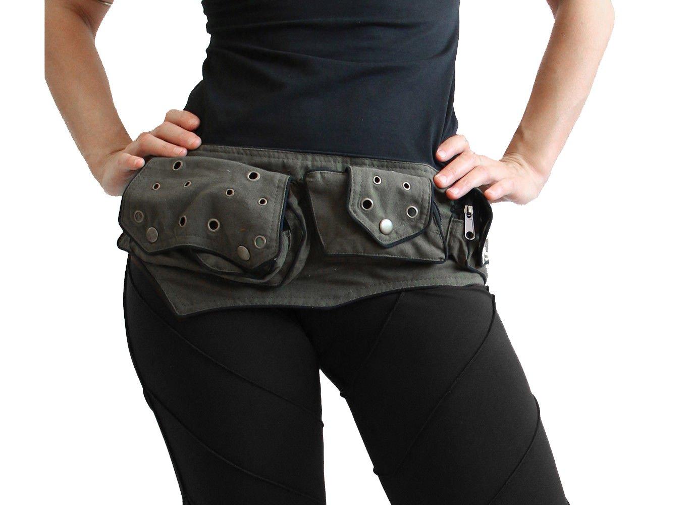 manakamana Utility pocket, belt bag, Olive green, wool