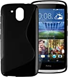 S Case Rubber Back Cover For HTC Desire 326G (Black)