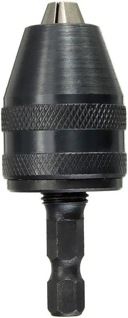 Drill Keyless Chuck 0.3-3.6mm limpact chuck tournevis keyless Cle adaptateur 1//4 queue noire Drill SODIAL R