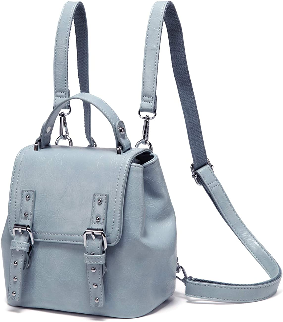 MiniBackpack Purse,VASCHY 3 Ways to Carry Cute Small Backpack for Women and Girls with Detachable Straps