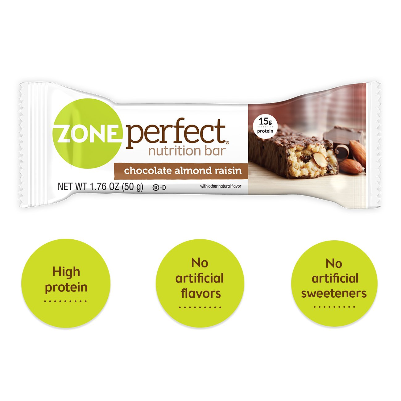 Zone Perfect Nutrition Bar, Chocolate Almond Raisin, 12 Count (Pack of 3) by Zoneperfect Classic (Image #2)