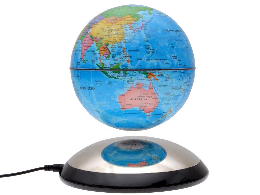 Amazon 6 magnetic rotating globe anti gravity floating amazon 6 magnetic rotating globe anti gravity floating levitating earth glossy finish toys games gumiabroncs Images