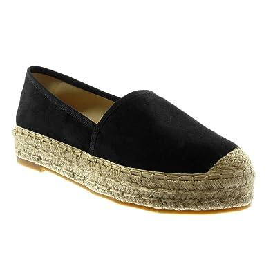 prezzo competitivo 95577 7b344 Angkorly - Women's Fashion Shoes Espadrilles - Slip-on - Cord Block Heel  3.5 cm