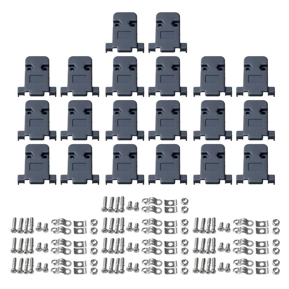 BQLZR DB9 DIY 9 Pin Serial D-Sub connettore Maschio e Femmina saldare Spina di Copertura Confezione da 10