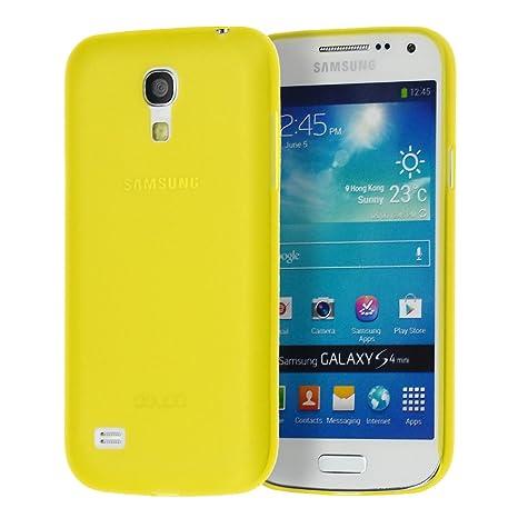 doupi UltraSlim Funda para Samsung Galaxy S4 mini, Finamente Estera Ligero Estuche Protección, amarillo