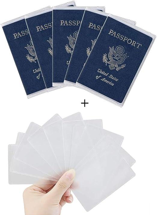Amazon.com: Owfeel 5pcs plástico – Funda para pasaporte ...