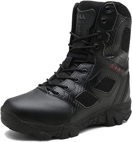 Homme Nouveau Marche Randonnée Militaire Armée Combat Travail Cheville Biker Bottes Chaussures Taille