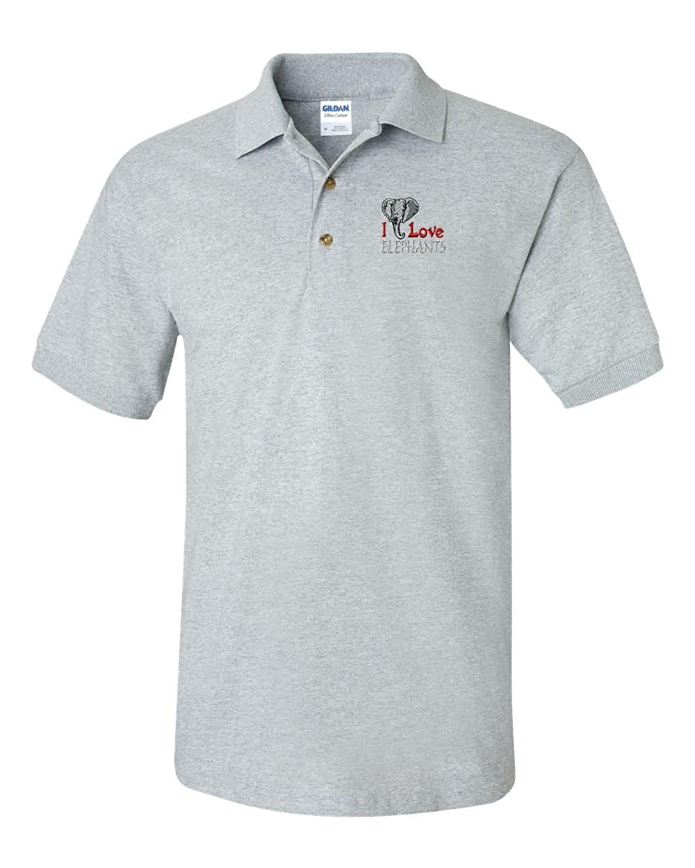 I Love Elephants Custom Personalized Embroidery Embroidered Golf