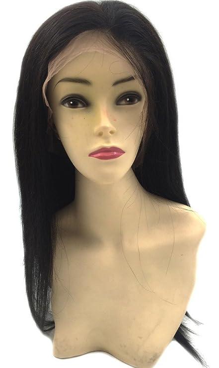 Moresoo 18 Pulgadas Peluca de Pelo Humano Virgen Brasileño Para Mujer Liso Glueless Pelucas Llenas de