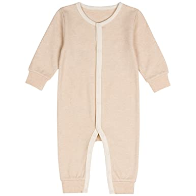 bc00abeb6f4 Amazon.com  Niteo Baby Organic Cotton Snap Front Coverall  Clothing