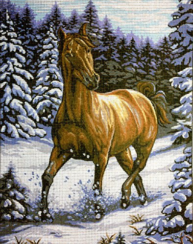 Hudemas Needlepoint Kit Horse in The Snow 9