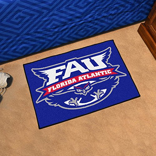 Fanmats Florida Atlantic University (Florida Atlantic University Owls Floor Mat w Official FAU Logo)