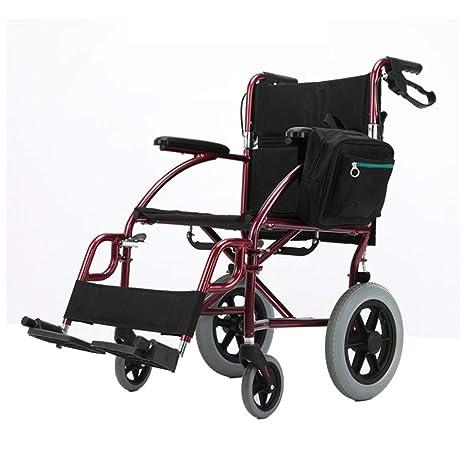 Amazon.com: Silla de ruedas autopropulsada, silla de viaje ...