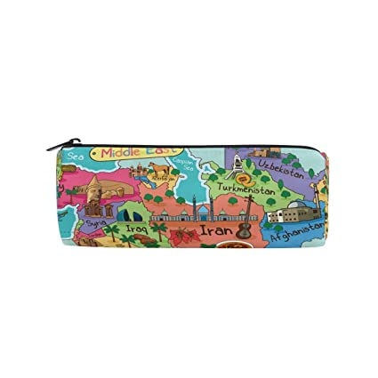 Amazon.com: Middle East Map Places of Interest Pen Case ...
