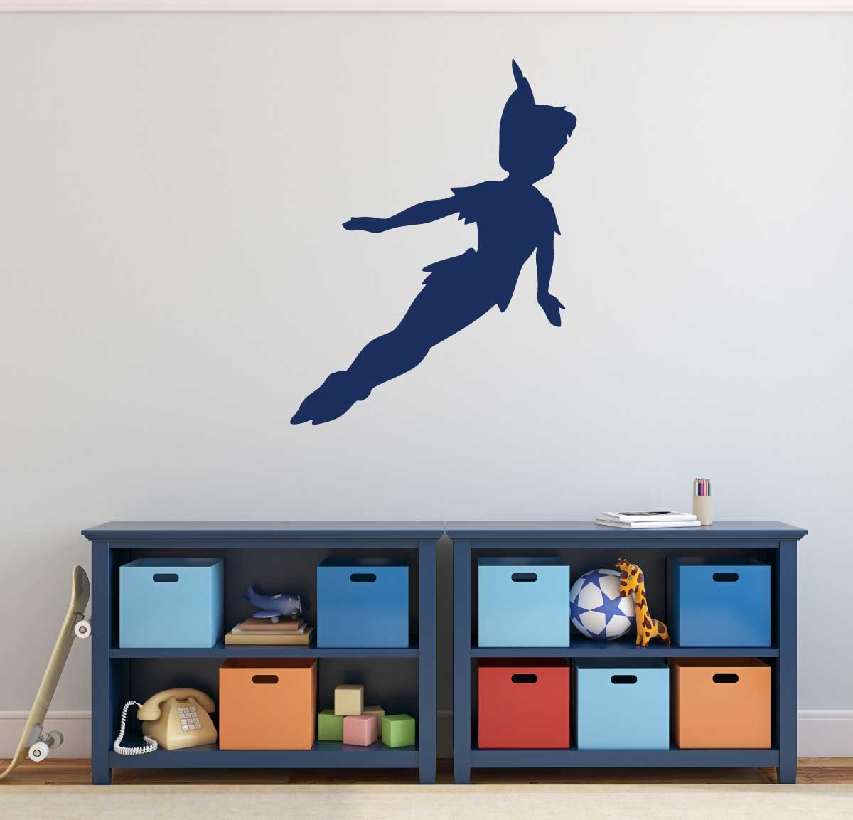 Amazon.com: Peter Pan Wall Decal Vinyl Sticker, Disney Flying To Neverland  Character Art Silhouette For Kids Playroom, Bedroom, Nursery: Handmade