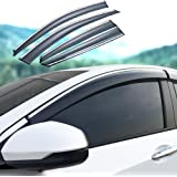 Jiahe For M G ZS 2017 2018 4PCS Window Deflectors Original Auto Door Side In-Channel Visors Front Rear Wind Deflectors//Sun Visors//Rain Shield//Sun Guards Dark Smoke