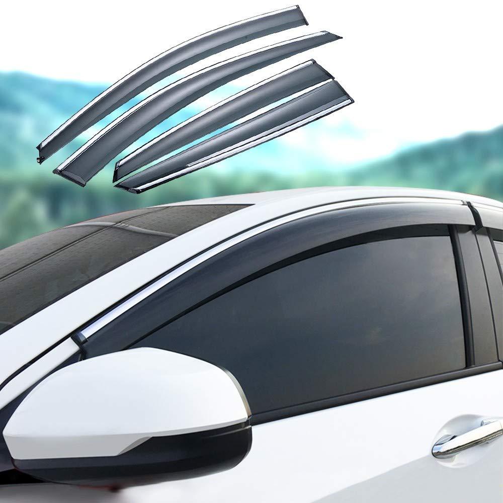 Xtrdye Delanteros Traseros Deflectores De Viento para Autom/óviles Se Ajusta A Honda Civic 10a Generaci/ón 2016-2019 4 Piezas