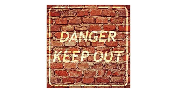 Danger Keep Out 36x24 CGSignLab Classic Brown Window Cling