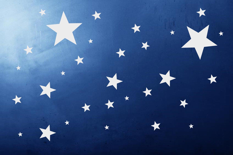 timalo® 50 Stück selbstklebende Sterne -70016- Fenstedekoration ...