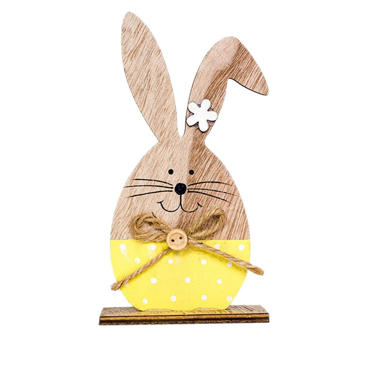B-commerce Handmade Wooden Rabbit Shapes Ornaments Craft fü r Ostern Dekorationen Geschenke