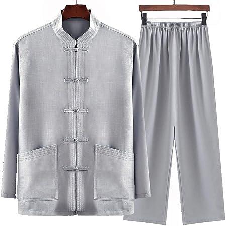 Tai Chi Traje LinoWing Chun Shaolin Kung Fu Transpirable Y Fresco Artes Marciales Kung Fu Camisa Hombres Tang Traje Hombres Pantalones De Artes Marciales,Grey-41【180】: Amazon.es: Hogar