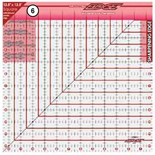 Sullivans 12-1/2-Inch-by-12-1/2-Inch The Cutting Edge Frosted Ruler 38184