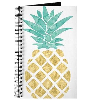 bb8511355a5 Amazon.com   CafePress - Golden Pineapple - Spiral Bound Journal Notebook