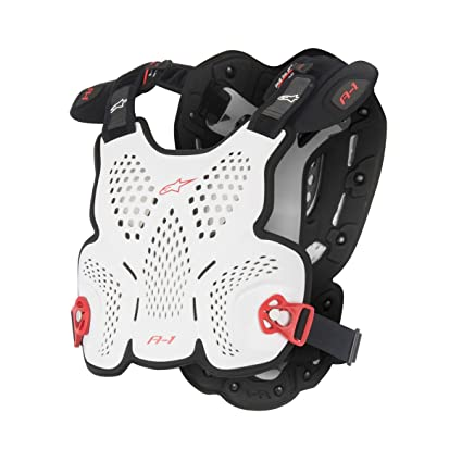 Amazon.com  Alpinestars A1 Roost Guard - Adult White Black Red  Automotive 166b5f0fc