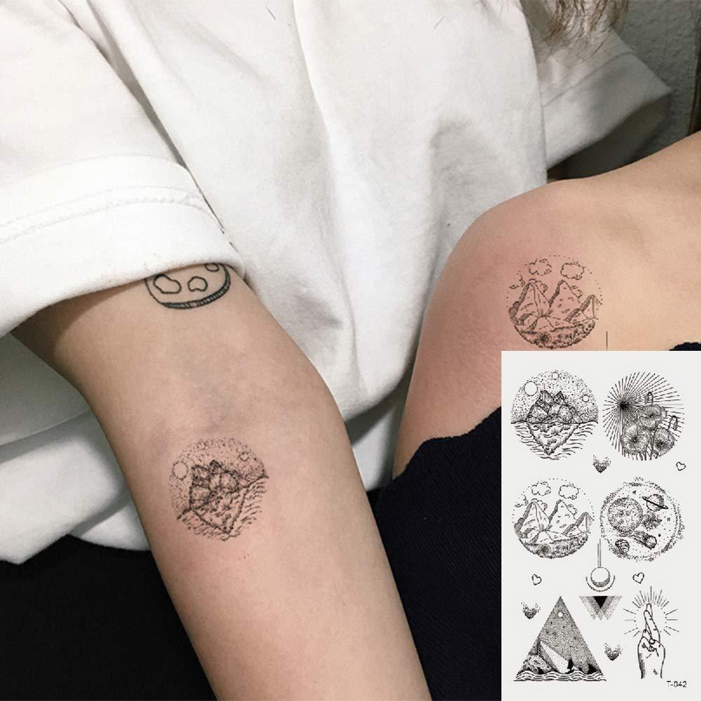 Oottati 2 Hojas Pequeño Lindo Tatuaje Temporal Tattoo Triángulo De ...