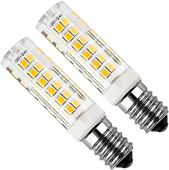 Bomnilla LED E14 Kakanuo 5Watt Equivalente 50W Blanco Cálido 3000K 430LM Campana extractora Non-Regulable AC220-240V 2 Piezas: Amazon.es: Iluminación