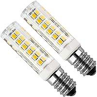 Lampadina LED E14 Kakanuo 5W Equivalenti a 50W Bianco Caldo 3000K 450LM Cappa da Cucina LED Non-Dimmerabile AC220-240V 2Pezzi