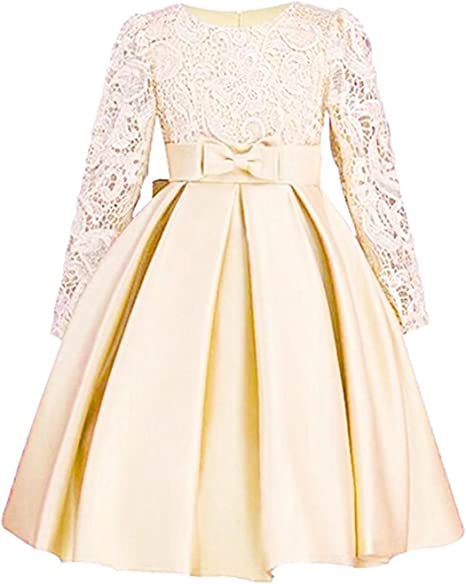 Amazon.com: ZaH Big Little Girl - Vestido de fiesta con flor ...