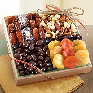 Santa Cruz Dried Fruit Tray with Savory Nuts Gift Tray