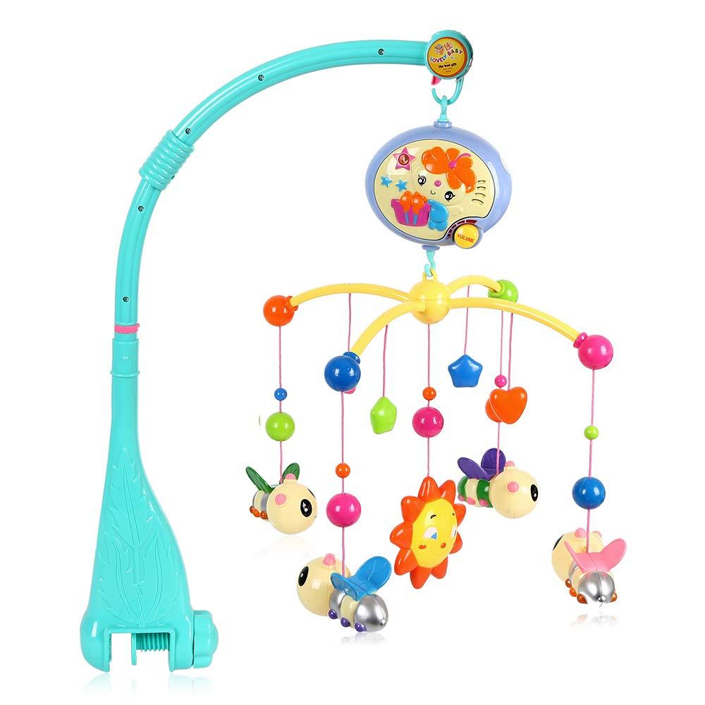 Littlegrass Móvil Para Cuna Musical Con Juguetes Giratorios Colgantes Y Caja De Música Para Bebés Niños Y Niñas Baby