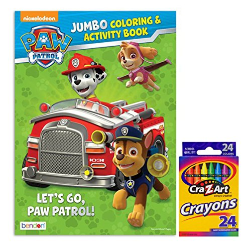 Paw Patrol  Lets Go Paw Patrol   Jumbo Coloring And Activity Book With Cra Z Art Crayons By Bendon Publishing International