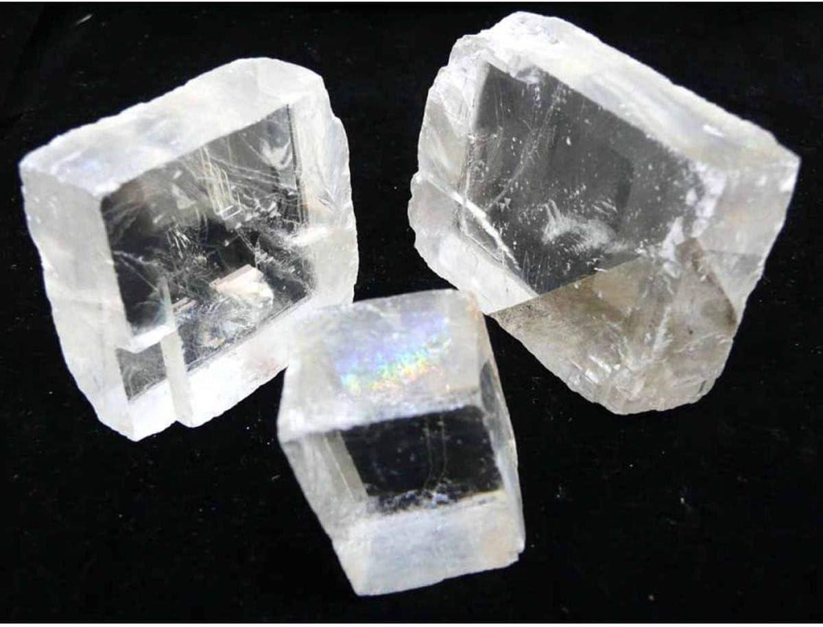Espato de Islandia (1 Unidad) Minerales y Cristales, Belleza energética, Meditacion, Amuletos Espirituales: Amazon.es: Hogar