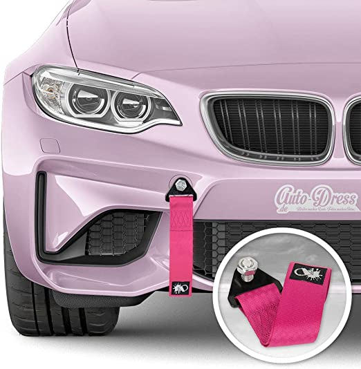 Auto Dress Rallye Drift Schlaufe Rennsport Motorsport Abschlepptau Tau Racing Hook Tow Strap Abschleppschlaufe Schlaufe Pink Auto