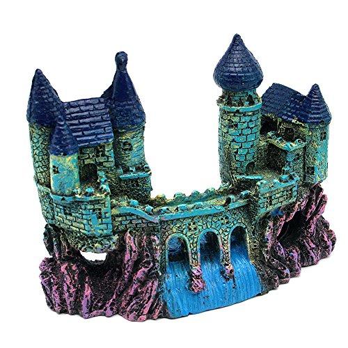 Dimart Super Magical Aquarium Ornament Artificial Mountain Castle Bridge Landscape Decorative Crafts for Fish Tank (Super Castle)