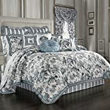 J QUEEN Atrium 8 PIECE Queen COMFORTER SET -Spa