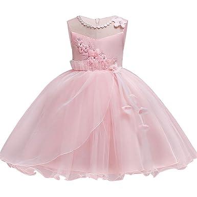 027b2fb462 Girls Dresses Size 6 Blush Sleeveless 4-5 Years for Wedding Pageant Dresses  for Girls